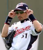 インチー選手のサングラス